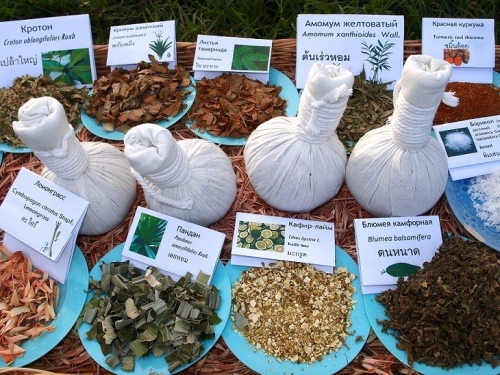 0herbal massage bags herbs names included small icon