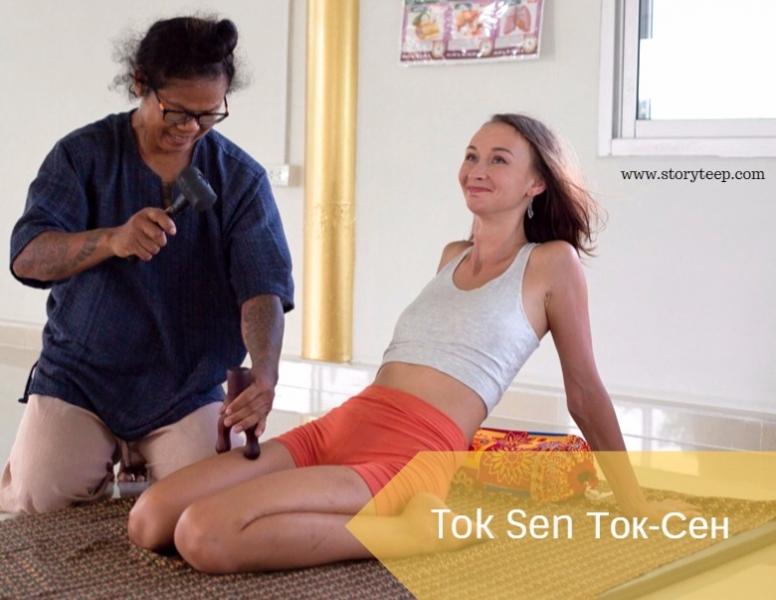 обучение массажу токсен toksen инструменты для  массажа тайский массаж по меридианам тела วิทีตอกเส้น โบราณ4