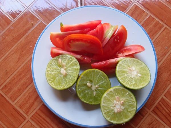 Лайм  помидоры пошаговый рецепт том-яма с фотографиями