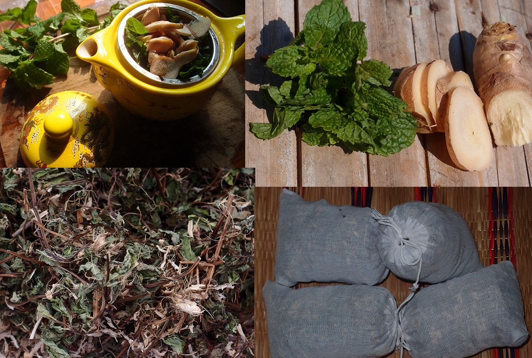 herbal tea mint-ginger dry herbs